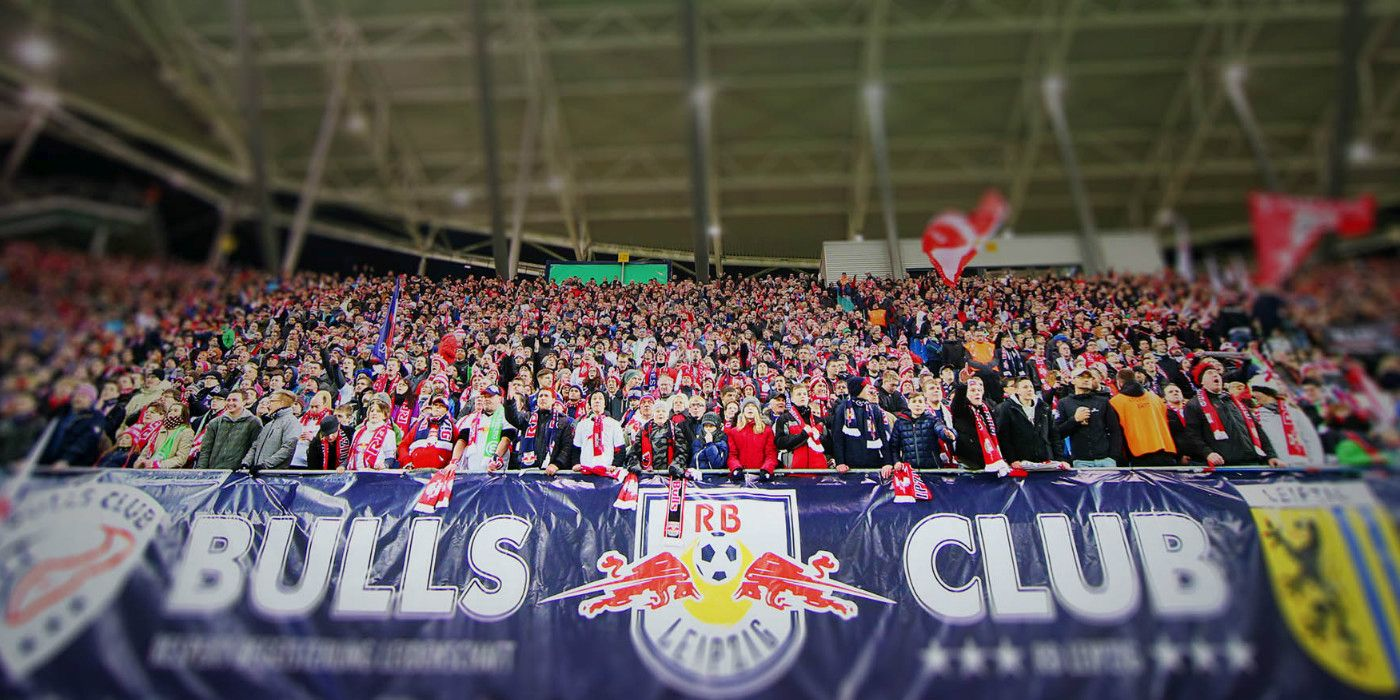 LEIPZIG,GERMANY,04.MAR.15 - SOCCER - DFB Pokal, RasenBallsport Leipzig vs VfL Wolfsburg. Image shows fans of RB Leipzig. Photo: GEPA pictures/ Roger Petzsche - For editorial use only. Image is free of charge.